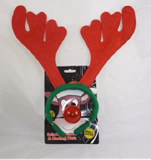 3d162c009f9ef Carousel Home and Gifts 2 Piece Rudolph Reindeer Antlers Headband ...