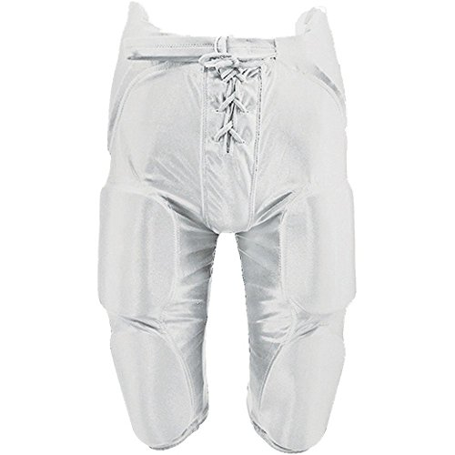 MARTIN SPORTS Integrated Dazzle Football Pant, Youth, White, Medium (Dazzle Youth Cloth)