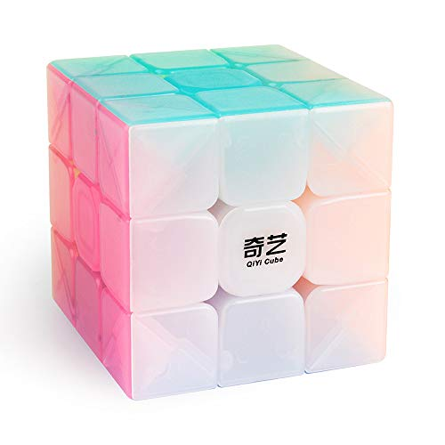 (D-FantiX Qiyi Warrior W 3x3 Speed Cube 3x3x3 Stickerless Jelly Cube Puzzle)
