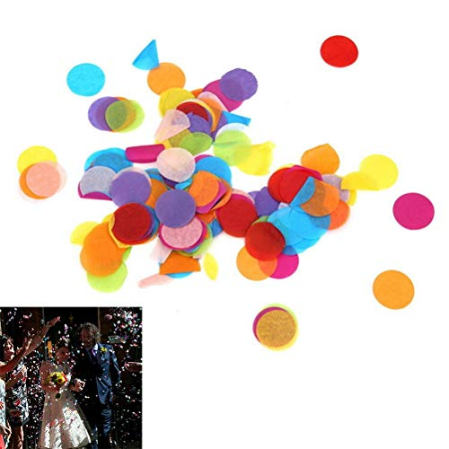 (Gift Bags & Wrapping Supplies - 900pcs 1bag Circle Shape Wedding Sprinkles Tissue Paper Confetti Boda Birthday Party Table - Curtain Birthday Pinata Bags Carton Placemat Flower Foil Birthday P)