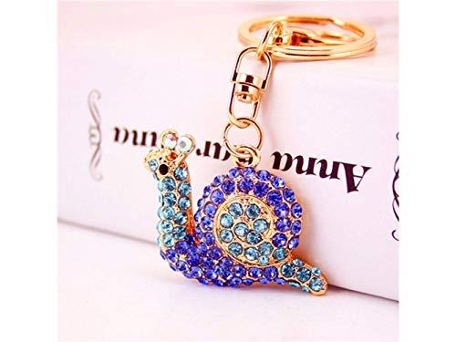 Car Keychain, Cute Small Snail Keychain Animal Key Trinket Car Bag Key Holder Decorations(Blue) for Gift by Huasen