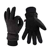OZERO Winter Gloves 3M Thinsulate Insulated Cotton Windproof Membrane, Thermal Glove Men Women Warm in Cold Weather