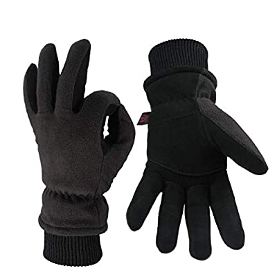 OZERO Winter Gloves with 3M Thinsulate Insulated Cotton and Windproof Membrane, Thermal Glove for Men and Women Warm in Cold Weather
