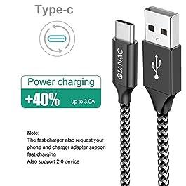 GIANAC USB C Kabel, 5Pack 0.25M 0.5M 1M 2M 3M