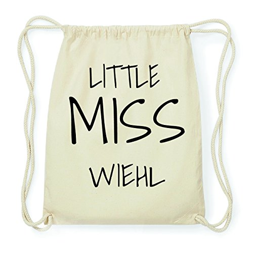 JOllify WIEHL Hipster Turnbeutel Tasche Rucksack aus Baumwolle - Farbe: natur Design: Little Miss