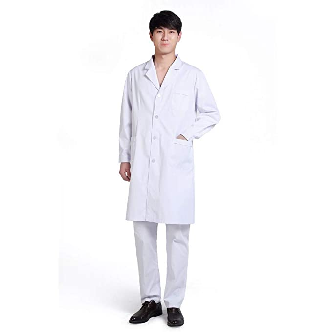 ESENHUANG Lab Coat Medical Coat Servicios Médicos Uniformes Hospital Uniforme Medico: Amazon.es: Ropa y accesorios
