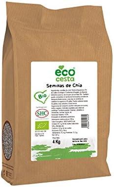 Ecocesta- Semillas de chía bio, 4 kg .: Amazon.es: Alimentación y ...