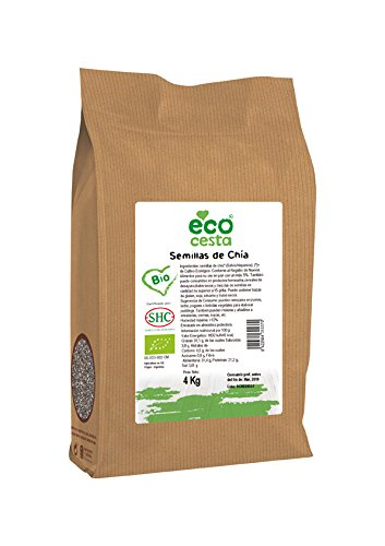 Ecocesta- Semillas de chía bio, 4 kg .: Amazon.es: Alimentación y bebidas
