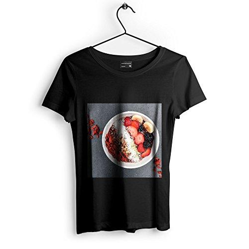 Westlake Art Strawberry Berry - Unisex Tshirt - Picture Photography Artwork Shirt - Black Adult Medium (None-C2323) (Maple Granola Recipe)