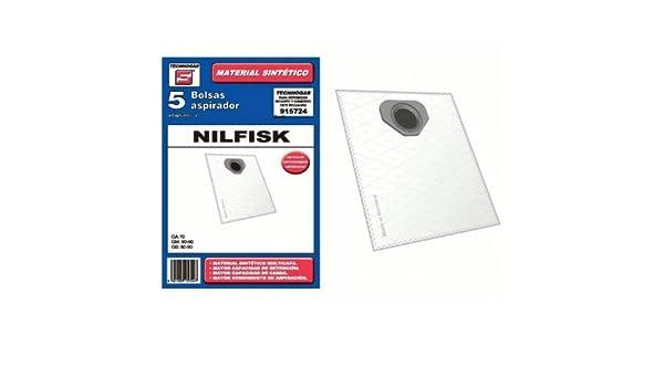 Bolsa sintetica aspirador Nilfisk 5 UNIDADES 915724: Amazon ...