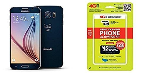 """Straight Talk Samsung Galaxy S6 """"Saphire Black"""" 32GB runs on Verizon's 4G XLTE Via Straight Talk's $45.00 5GB Unlimited talk & Text """"Service Card Not included"""" 41AQ1fiZ 2BcL  Store 41AQ1fiZ 2BcL"""