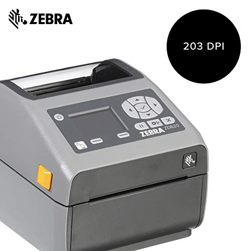 Zebra - ZD620d Direct Thermal Desktop Printer with LCD Screen - Print Width 4 in - 203 dpi - Interface: Bluetooth LE, Ethernet, Serial, USB - ZD62142-D01F00EZ by Zebra Technologies (Image #1)
