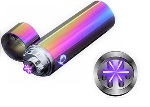 Exhaust Arc (Novelty Wares® Latest Design Triple ARC Innovative Flameless Plasma X Beam Lighter-Rechargeable-Restructured-Pipes-Bowls-Cigars-Camping-Windproof-Waterproof-360° (Neon))