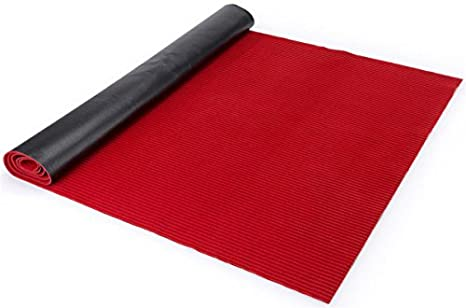 displays2go aisle carpet polyester fabric rubber backer red