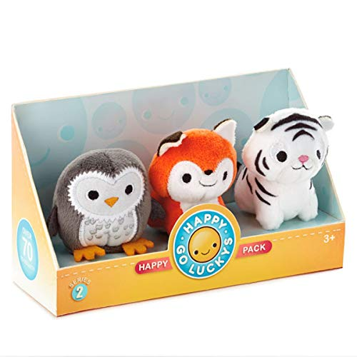 Hallmark Happy Go Luckys Toddler Toys Small Stuffed Animals - Limited Edition - Animal Friends