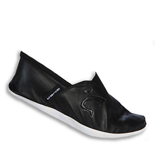 GIMER - Zapatillas de danza para niña negro negro, negro (negro), 30 EU (19 cm)