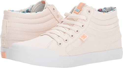 DC Girls' Evan HI SP Sneaker, Cream, 4 M US Big Kid