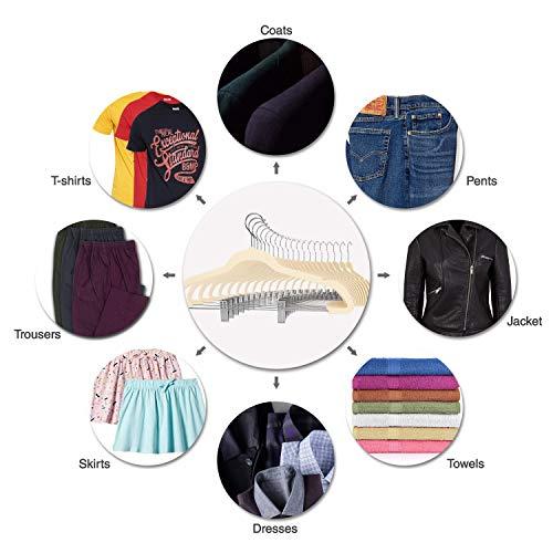 Premium Quality Velvet Pants Hanger Set of 26 - Ultra-Thin No Slip Velvet Skirts Hangers - Swivel Hooks, Space Saving Clothes Hangers - Great For Skirts, Dresses, Suits, Shirts & More - Slim IVORY by TechZoo (Image #8)