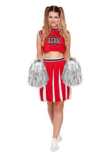 Henbrandt Ladies Fancy Dress Cheerleader High School Costume