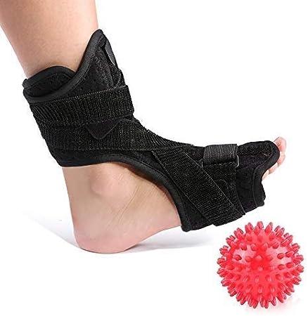 DOACT® Férulas nocturnas para la fascitis plantar para el aparato ortopédico para la caída del pie y un rodillo de bolas de masaje de punta dura para mujeres y hombres que duermen y descansan