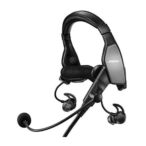 "Bose ProFlight Aviation Headset 3 4.9 ounces on-head weight helps enhance comfort over long periods of use. Electret noise cancelling mic increases clarity and reduces background noise when transmitting, specifically for aircraft with ""hot mic"" or Ptt systems. Active equalization automatically Shapes and equalizes the incoming signal for enhanced clarity and intelligibility."