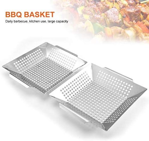 NEWMAN771Her Panier de barbecue carré en acier inoxydable