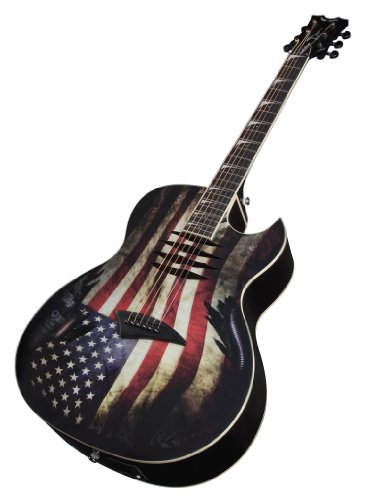 buy dean makoglory acoustic electric guitar glory usa flag graphic at guitar center. Black Bedroom Furniture Sets. Home Design Ideas