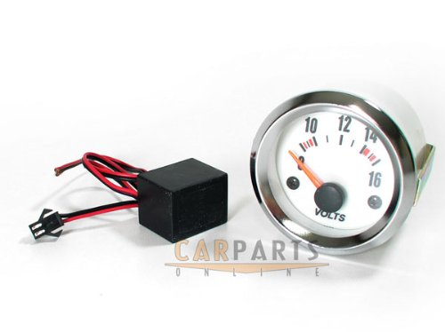Voltage Gauge Volt Meter Dashboard Instrument 52 mm Plasma Blue: