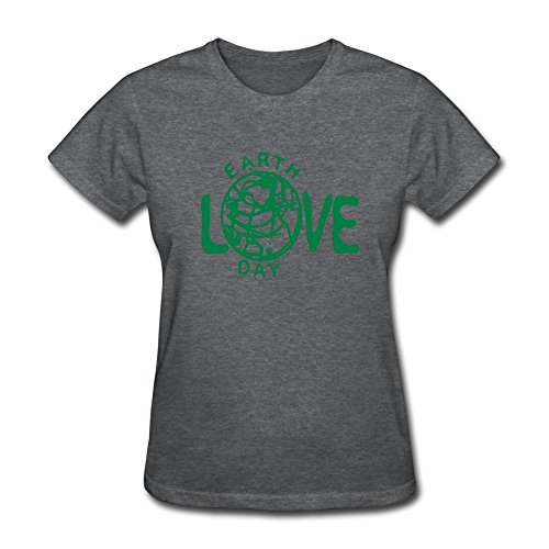 HD-Print Cool Earth Day Globe Tee For Women DeepHeather Size - Mixer Gear Drive