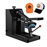 VEVOR Hat Press 7x3.75 Inch 600W Heat Press for Hats Digital LCD Timer Heat Press Rigid Steel Frame No Stick Transfer Sublimation Machine