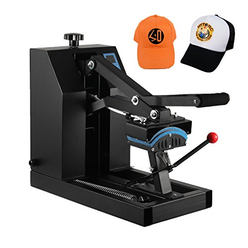 VEVOR Hat Press 7x3.75 Inch 600W Heat Press for Hats Digital LCD Timer Heat Press Rigid Steel Frame No Stick Transfer Sublimation Machine by VEVOR