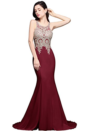 Long Sheer Net Evening Prom Party Dresses Trumpet Mermaid Formal (Sheer Net Long Gown)