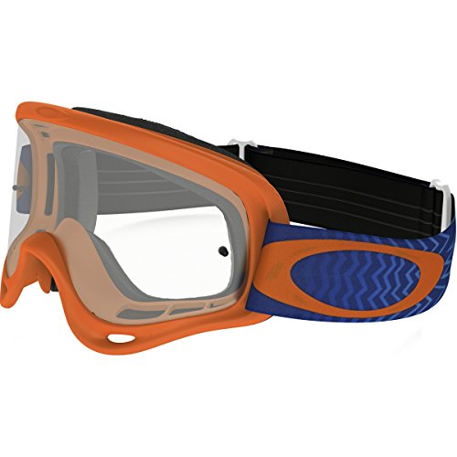 Oakley XS O Frame Shockwave Orange Blue with Clear unisex-child Goggles (Orange, Small), 1 - Small Faces Best Oakleys For