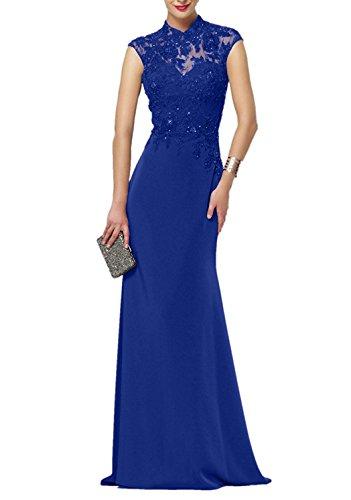 Neu Blau Etui Kleider Charmant Partykleider Ballkleider Weinrot Lang 2018 Damen Chiffon Glamour Abendkleider Royal tqpO6wq4