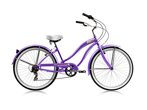 (Micargi Bicycles Industries Rover 7SP-F-PP Ride On, Purple)
