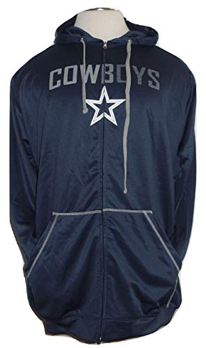 Licensed Sports Product Dallas Football Mens Big and Tall Full Zip Navy Poly Fleece Track Jacket - 5XLT -