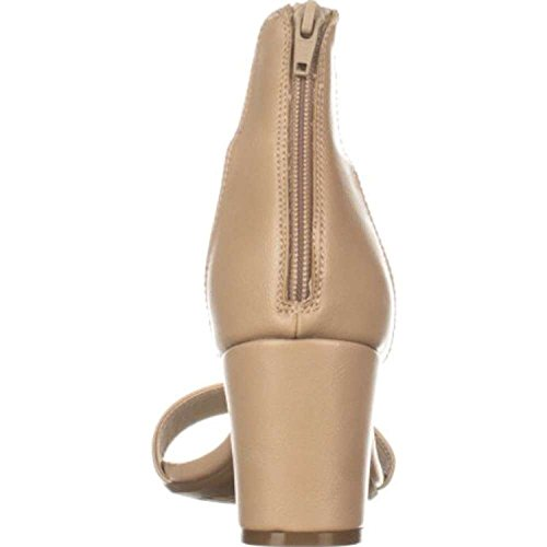 Bianco Donne Montagna Tessuto Elinie Tacco Caviglia Casuale Cinghia Sandali Sabbia / Liscio
