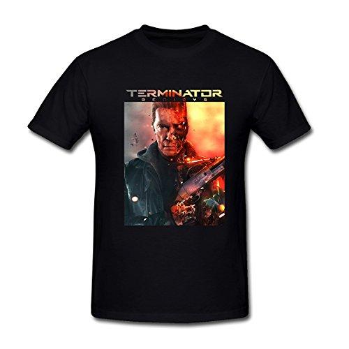 Drong Men's Arnold Schwarzenegger Terminator Genisys Guardian T-Shirt XXL Black (Schwarzenegger Xxl)