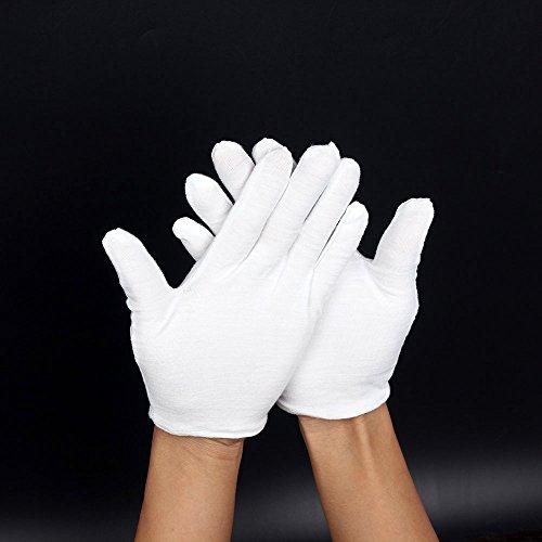 Costumes Majorette Uniforms - White Cotton Gloves; Lint Free. Marching