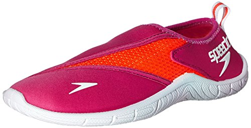 Speedo Women's Surfwalker 3.0 Water Shoe, Pink/White, 6 M US
