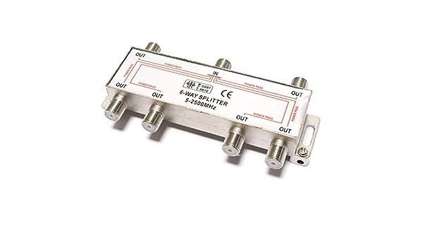BeMatik - Derivador de 6 vías para TV/SAT de 10 dB con ...