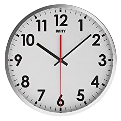 Unity Gairn Stainless Steel Silent Sweep Non-ticking Wall Clock, 12-Inch