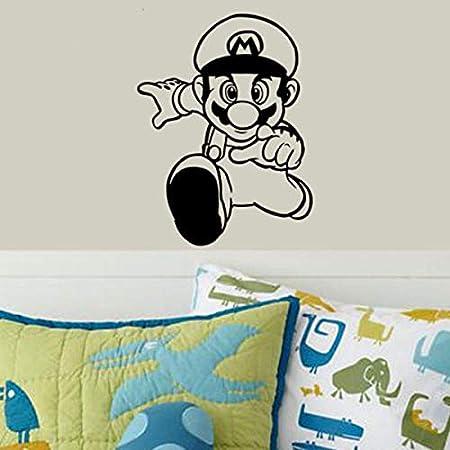Fengdp Super Mario Juego de Videojuegos Etiqueta Adhesiva Sala de ...