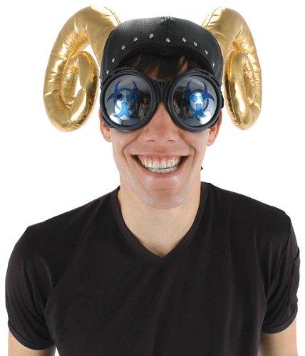Elope Men's Steampunk Industrial Biohazard Goggles