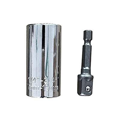 Enjoydeal ETC-120A Multi-function Universal Socket Ratchet Wrench With Power Drill Adapter