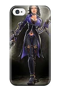 Flexible Tpu Back Case Cover For Iphone 4/4s - Women Sci Fi People Sci Fi