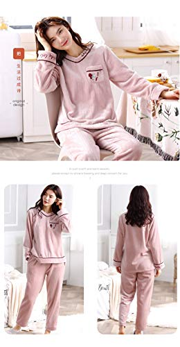 Pajamasx Fleece M150 Autumn Long Xl162 Women 162cm 65kg And Suit Cardigan Pajamas 30 Flannel Service sleeved 168cm Coral Home Winter Thick 50kg 58 rAZwrqPx