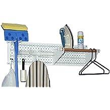 """Wall Control 30-LAU-100 WW Narrow Laundry Room Organizer Kit, 8"""" x 32"""", White"""