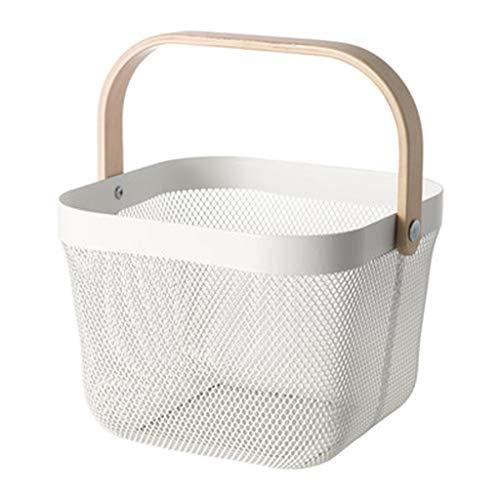 ASJHK Desktop Storage Basket Multi-Function Storage Basket Fruit Small Basket Basket, 4 Colors Optional (Color : White)