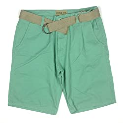 Iron Co. Mens Heavy Vintage Wash Belted Shorts 42 White